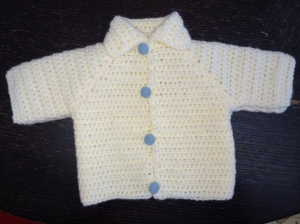 Ajiri Eroraha spent part of spring break crocheting a sweater for her newborn cousin.