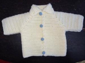 Ajiri Eroraha spent part of spring break crocheting a sweater for her newborn cousin.