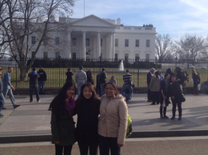 Sarishma Thapa, Jinju Yi and Shelby Gueory volunteered for the alternative spring break.